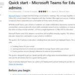 Quick start - Microsoft Teams for Education admins - Microsoft Teams | Microsoft Docs