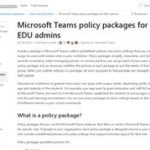 Microsoft Teams policy packages for EDU admins - Microsoft Teams | Microsoft Docs